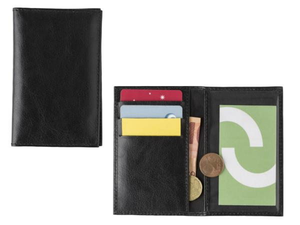 Porte-Feuille et Porte-Cartes de Crédit Anti RFID croûte de Cuir