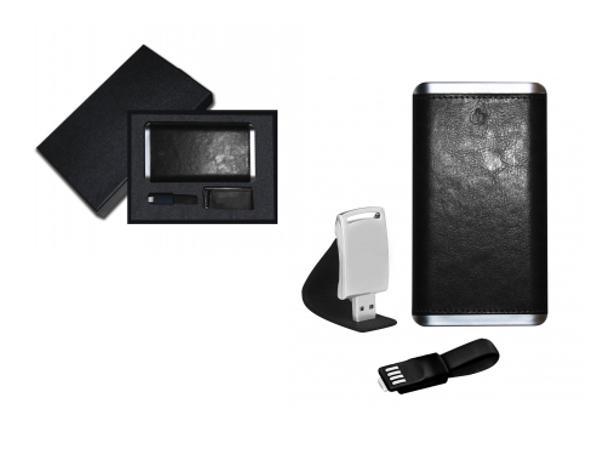 Coffret Blaupunkt : Power Bank 4000 mAh, Clé USB 4GO, Câble 2/1 - visuel 1