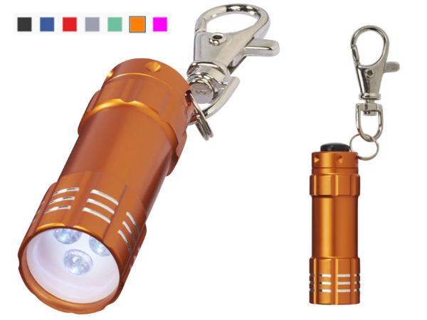 Mini Torche à 3 LED Blanches avec Porte-Clés