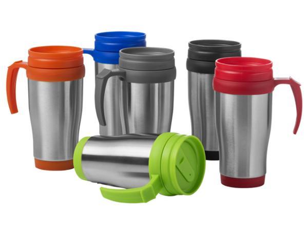 Mug Isotherme de 400 ml à Double Paroi et Couvercle à Visser
