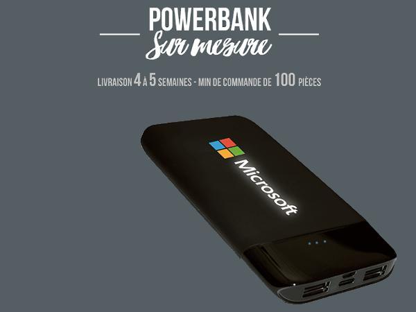 Power Bank Led Rétro-éclairée 4 000 mAh - visuel 2