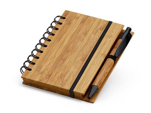 Bloc-Notes en Bambou avec 70 Feuilles Lignées en Papier Recyclé