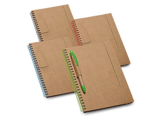 Bloc-Notes en Carton de 60 Feuilles Lignées en Papier Recyclé
