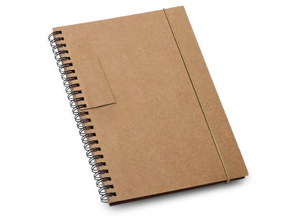 Bloc-Notes en Carton de 60 Feuilles Lignées en Papier Recyclé - visuel 2