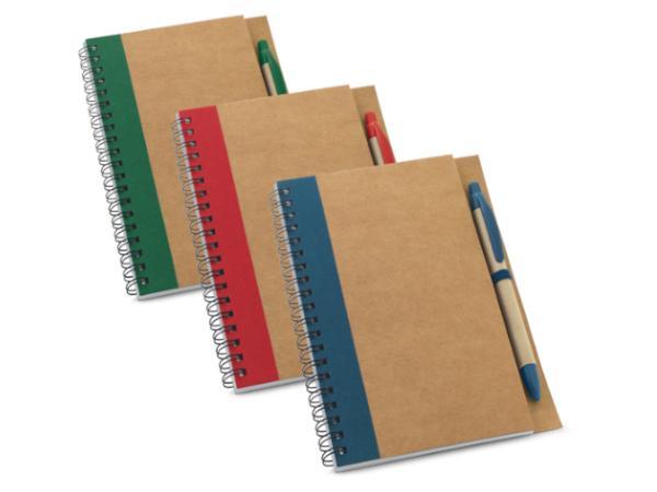 Bloc-Notes avec 60 Feuilles non lignées en Papier Recyclé