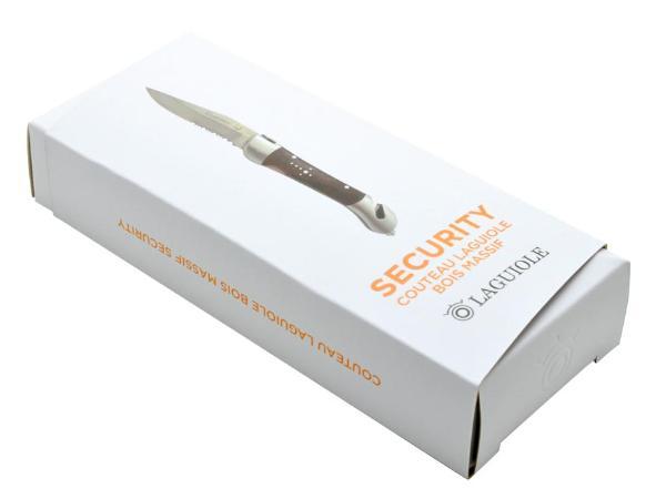 Couteau Laguiole en Bois Massif avec Fermeture Sécurisée - visuel 3