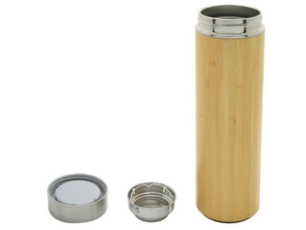 Bouteille Isotherme en Bambou avec Infuseur 480 ml