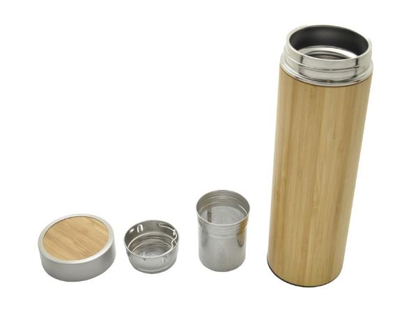 Bouteille Isotherme en Bambou avec Infuseur
