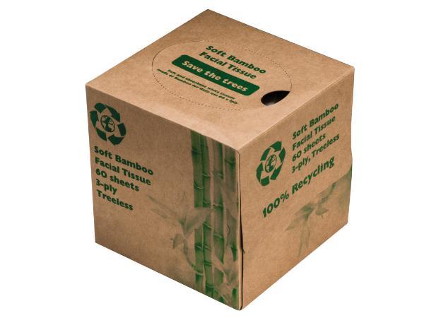 Boîte à Mouchoirs en Bambou Recycable - visuel 2