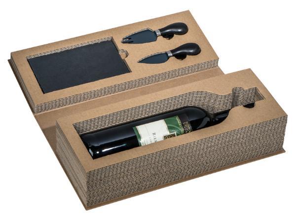 Set à Vin et Fromage Présenté dans une Boîte Recyclable