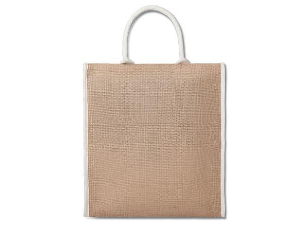 Sac de Shopping en Jute Laminé et Liseré en Coton Renforcé - visuel 2