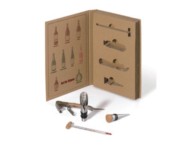 Set de  4 Accessoires à Vin dans un Emballage Écologique