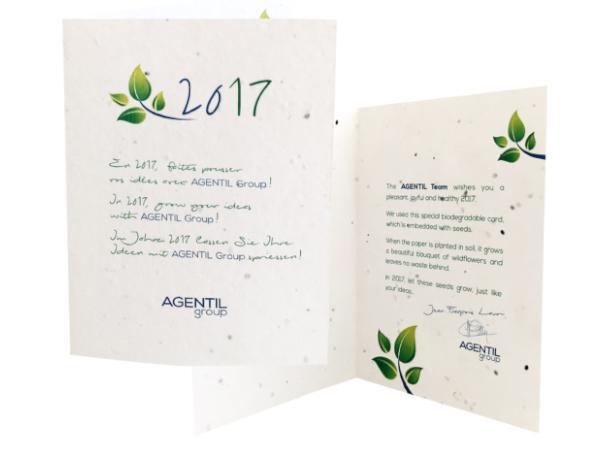 Carte de Vœux à Planter Contenant des Graines