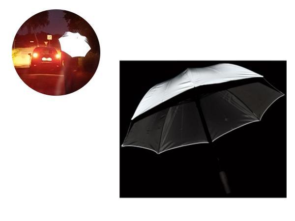 Parapluie Canne avec Revêtement Réfléchissant