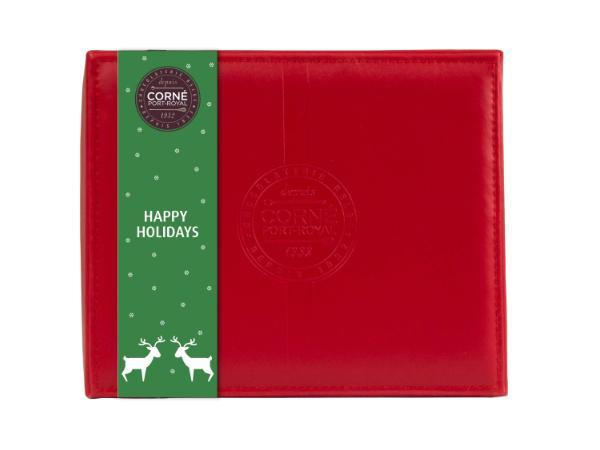 Coffret de Noël en Cuir Rouge 375 g