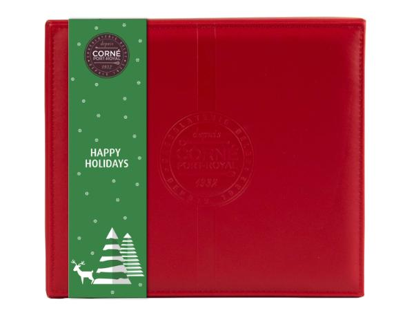 Coffret de Noël en Cuir Rouge 500 g