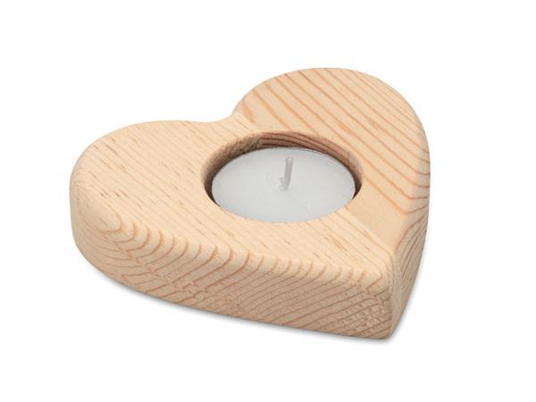 Bougeoir en Forme de Cœur avec Bougie chauffe-plat