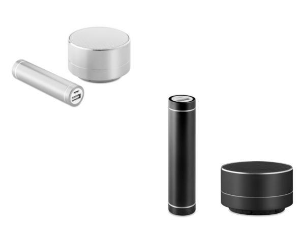Ensemble Powerbank 2200 mAh et Haut-Parleur Bluetooth - visuel 2