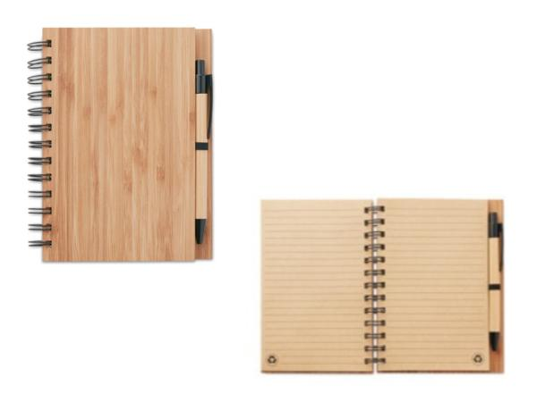 Carnet à Spirale A5 en Bambou avec du Papier Recyclé - visuel 2