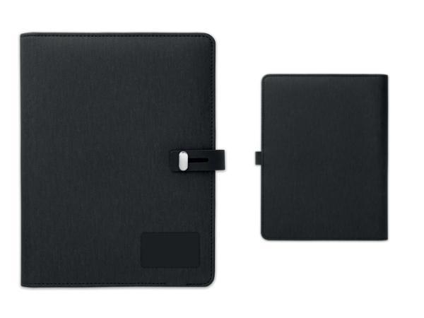 Conférencier A5 avec Powerbank de 4000 mAh et Bloc Notes - visuel 3