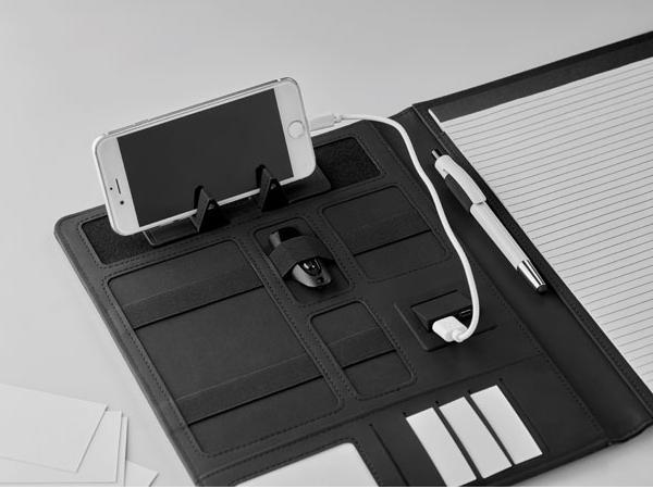 Conférencier A4 avec Powerbank 4000 mAh et Bloc Notes - visuel 2