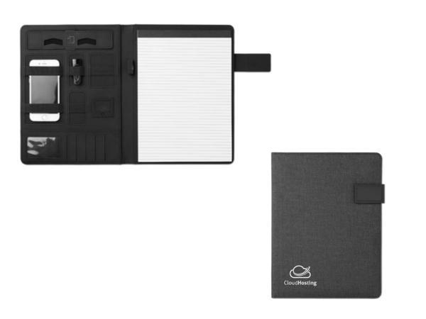Conférencier A4 avec Powerbank 4000 mAh et Bloc Notes - visuel 3