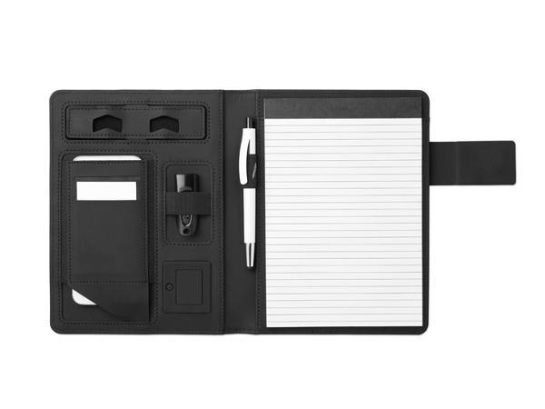 Conférencier A5 avec Powerbank de 4000 mAh et Bloc Notes - visuel 2