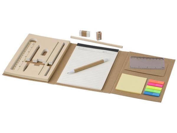 Conférencier en Carton avec Bloc Notes et Accessoires