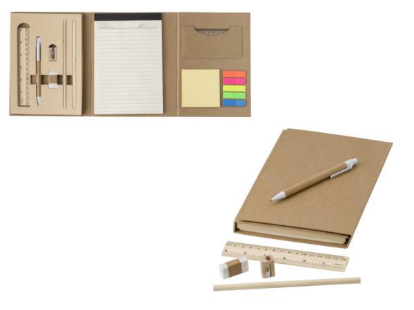 Conférencier en Carton avec Bloc Notes et Accessoires - visuel 2