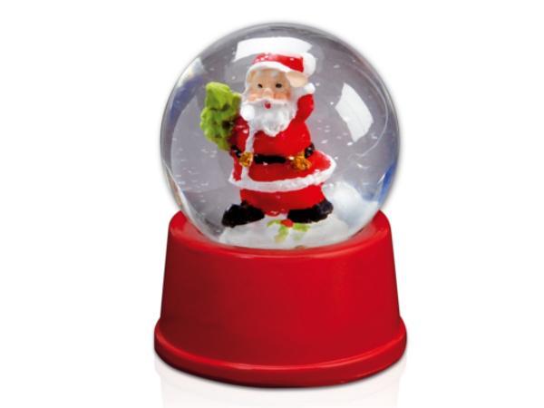 Petite Boule de Verre de Neige avec Père Noël