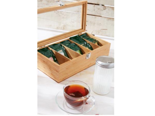 Boîte à Thé avec 5 Compartiments en Bambou