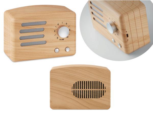 Haut Parleur Bluetooth 3 W aspect Bois - visuel 2