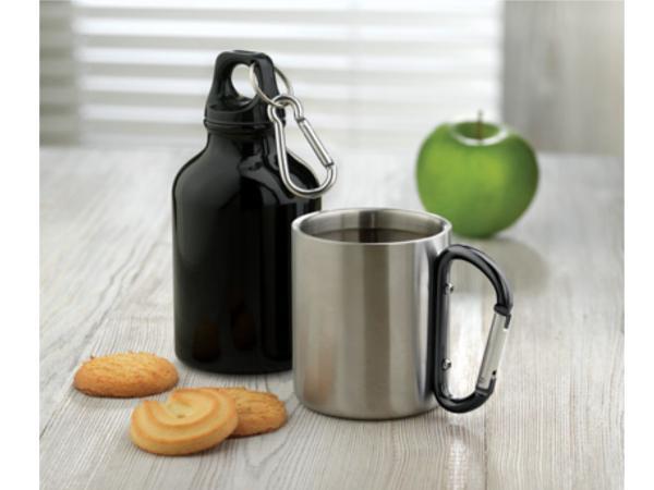Mug Double Paroi avec une Anse Mousqueton
