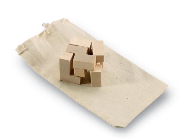 Puzzle en Bois 7 Pièces dans un Sac en Coton - visuel 2