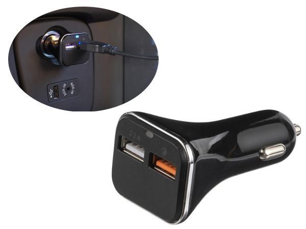 Prise Allume Cigare avec Double Prise USB
