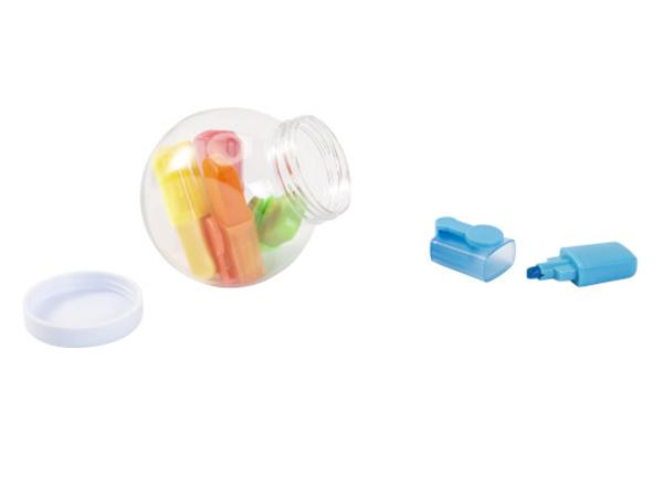 Bocal en Plastique Contenant 5 Surligneurs - visuel 2