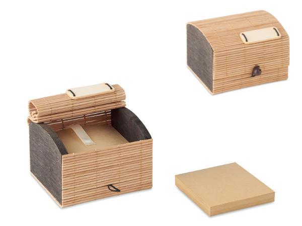 Bloc Notes en Bambou avec 500 Feuilles de Papier Recyclé - visuel 1