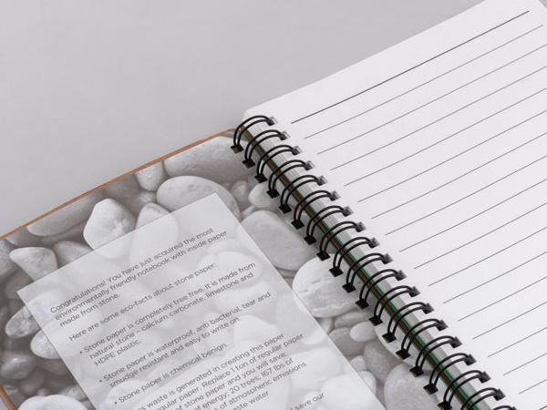 Cahier à Spirales avec du Papier de Pierre