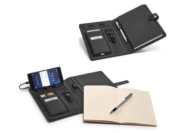 Conférencier A5 avec Powerbank de 4000 mAh et Bloc Notes