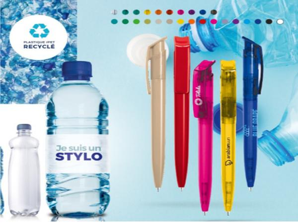 Stylo Bille Bleue Plastique en Matière Recyclée rPET