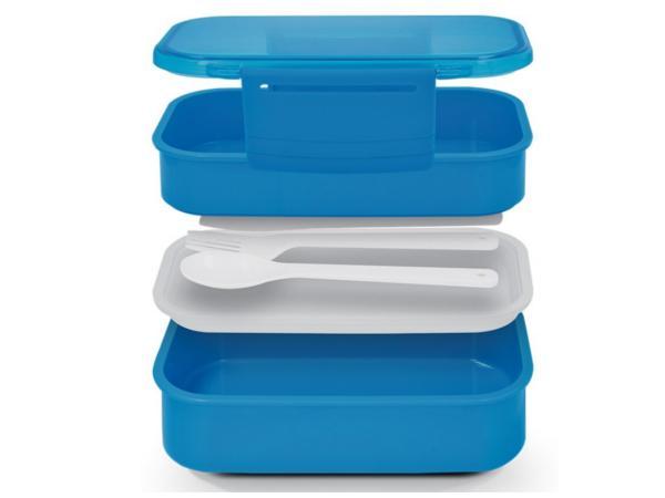 Lunch Box avec 3 Compartiments et 3 Couverts - visuel 2