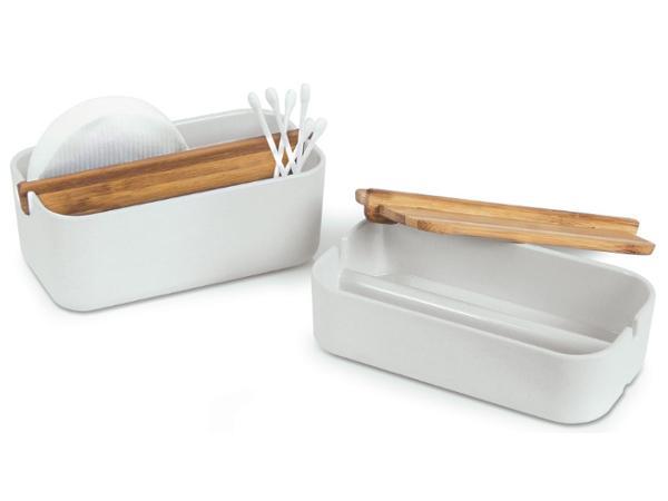 Boîte à Coton pour Salle de Bain en Bambou - visuel 2