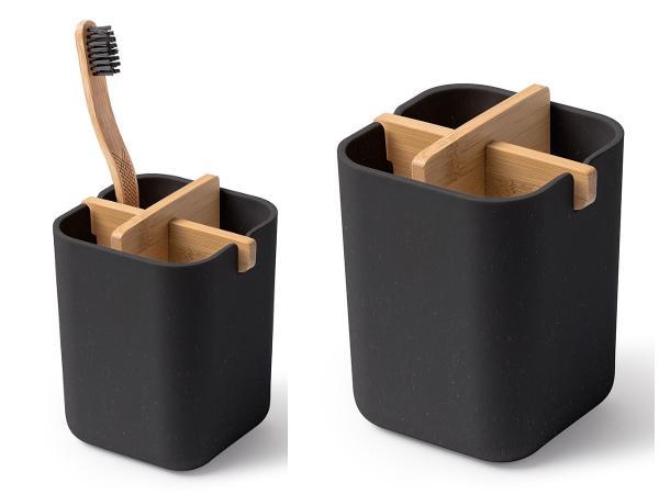 Pot pour Brosses à Dents en Bambou - visuel 2