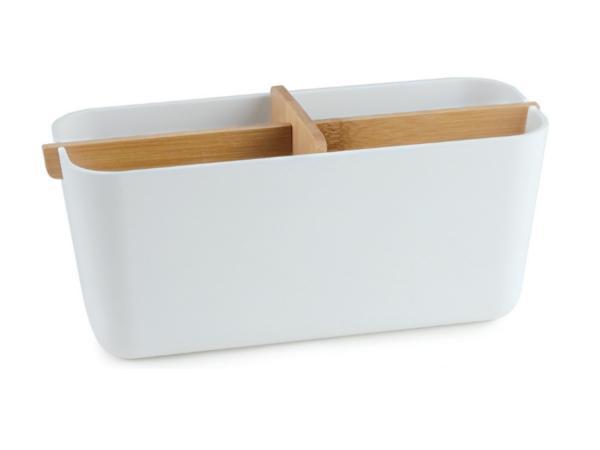 Boîte de Rangement pour Salle de Bain en Bambou