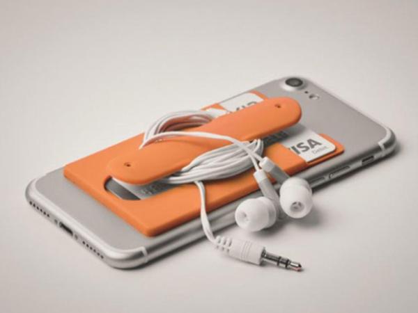 Porte-Carte, Support de Téléphone et de Câble en Silicone - visuel 2
