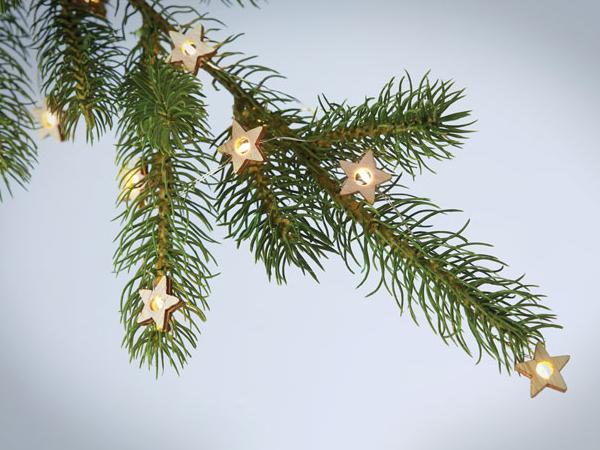 Guirlande LED en Forme d' Etoiles en Bois - visuel 2