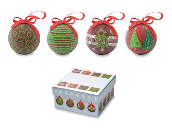 Ensemble de 4 Boules de Noël dans une Boîte Cadeau - visuel 2