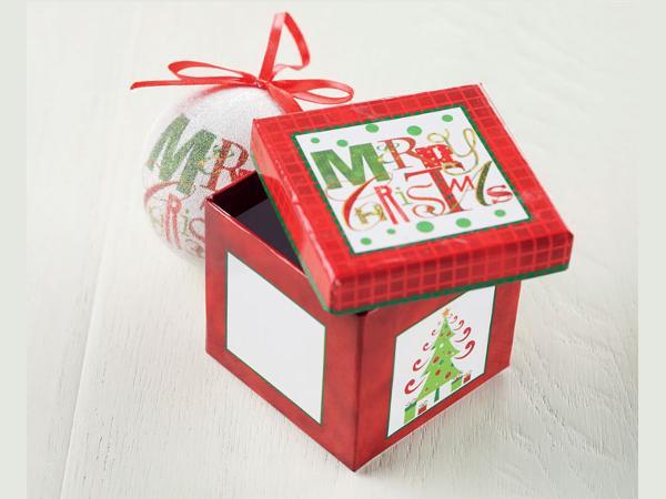 Boule de Noël dans une Boîte Cadeau - visuel 3