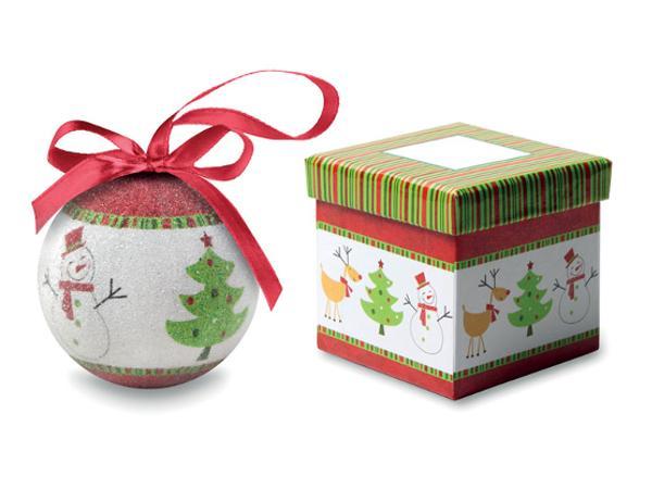 Boule de Noël dans une Boîte Cadeau