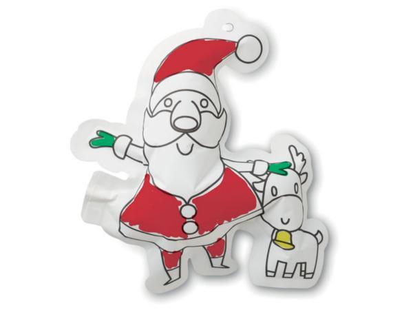 Ballon de Coloriage en Forme de Père Noël avec Marqueurs